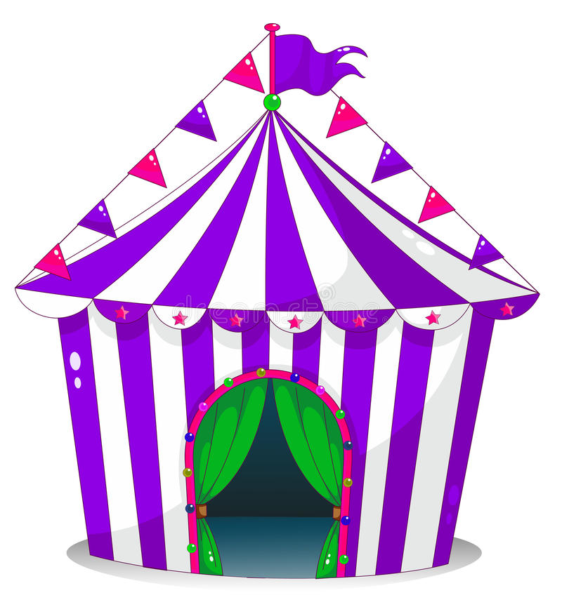 Une tente de cirque violette illustration libre de droits