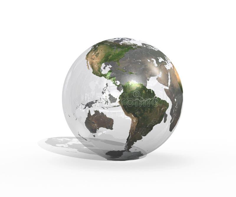Une terre en verre images stock