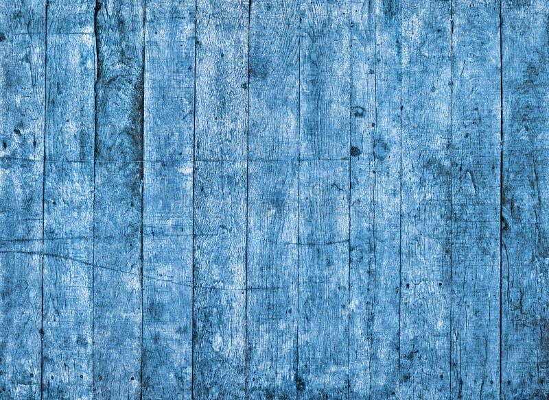 Une texture en bois peinte sale bleue image libre de droits
