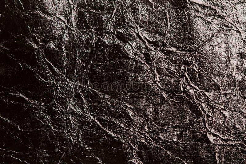 Une texture en cuir froissée noire photos libres de droits