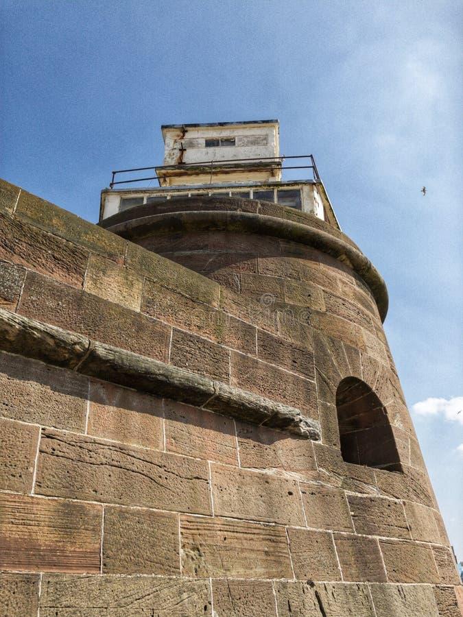 Une tour à la roche de perche de fort, nouveau Brighton, Wirral photographie stock libre de droits