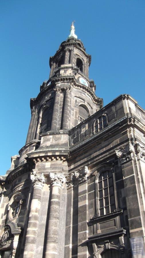 Une tour de la galerie de peinture de grands maîtres à Dresde, Allemagne images libres de droits