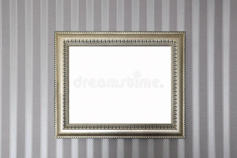 Une trame métallique sur le mur photo libre de droits