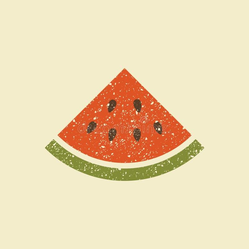 Une tranche de pastèque Graphisme stylisé de vecteur illustration de vecteur