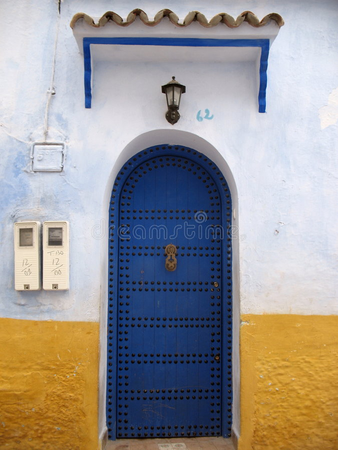 Une trappe bleue photo libre de droits