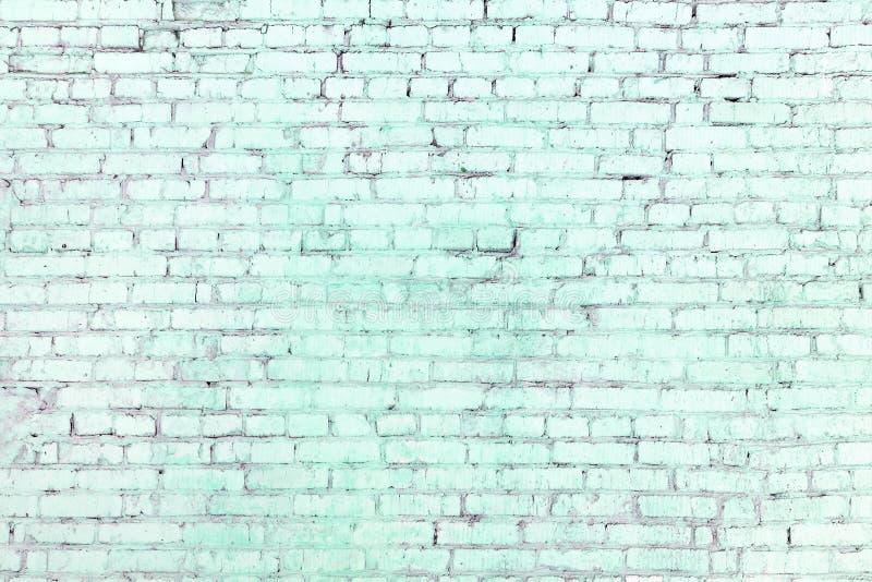 Une Turquoise Mur De Briques Bleu Des Rangées Incontestées