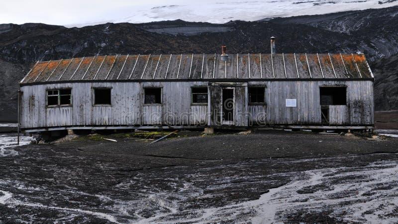 Une usine de pétrole de baleine en Antarctique images stock