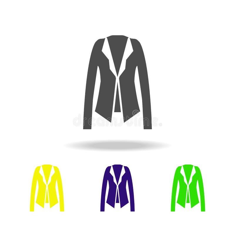 une veste, icônes multicolores de mode Peut être employé pour le Web, logo, l'appli mobile, UI, UX illustration libre de droits