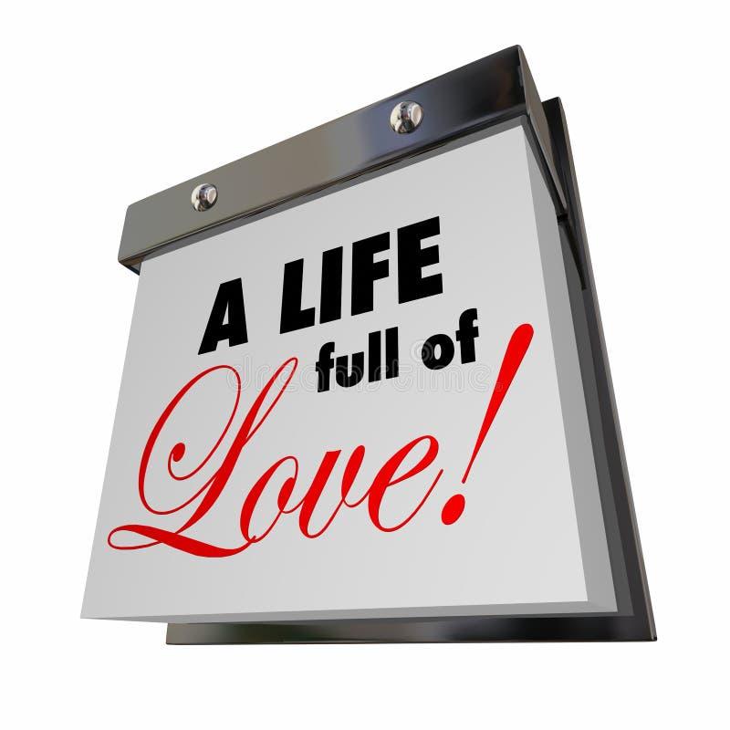 Une vie complètement de passion Romance d'années de jours de date d'amour illustration de vecteur