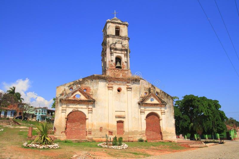 Une vieille église au Trinidad photographie stock libre de droits