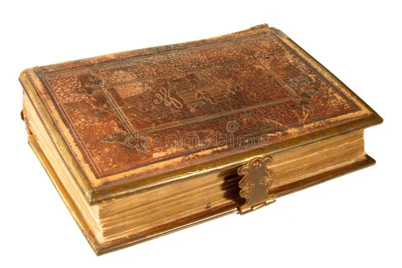 Une vieille bible, estampée en 1865 image libre de droits