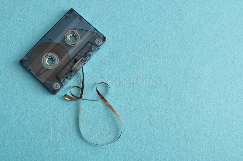 Une vieille cassette de bande image stock