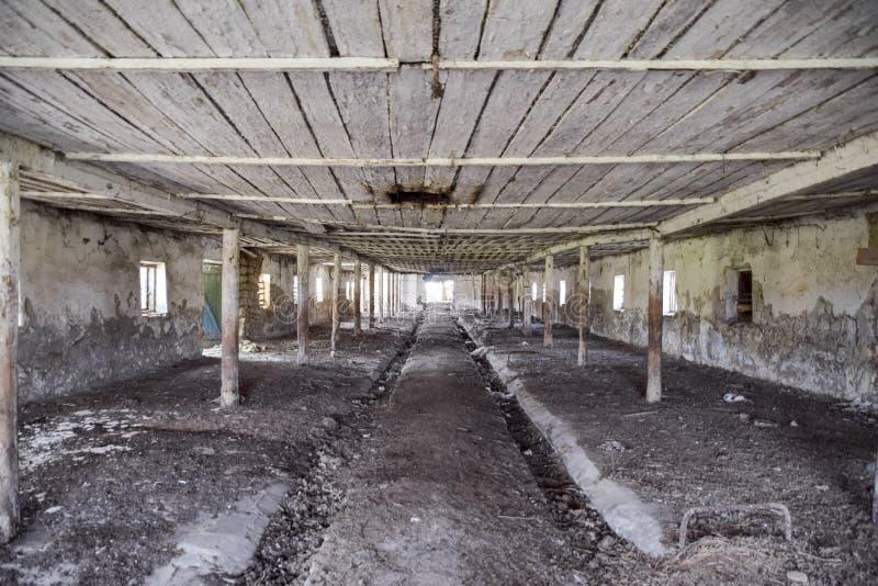 Une vieille ferme abandonnée pour des vaches Style abandonné photos stock