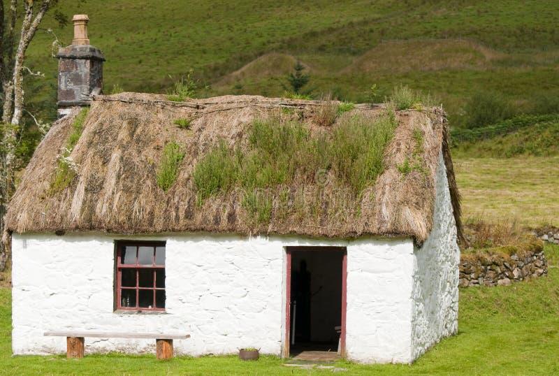 Une vieille maison écossaise de crofters image libre de droits