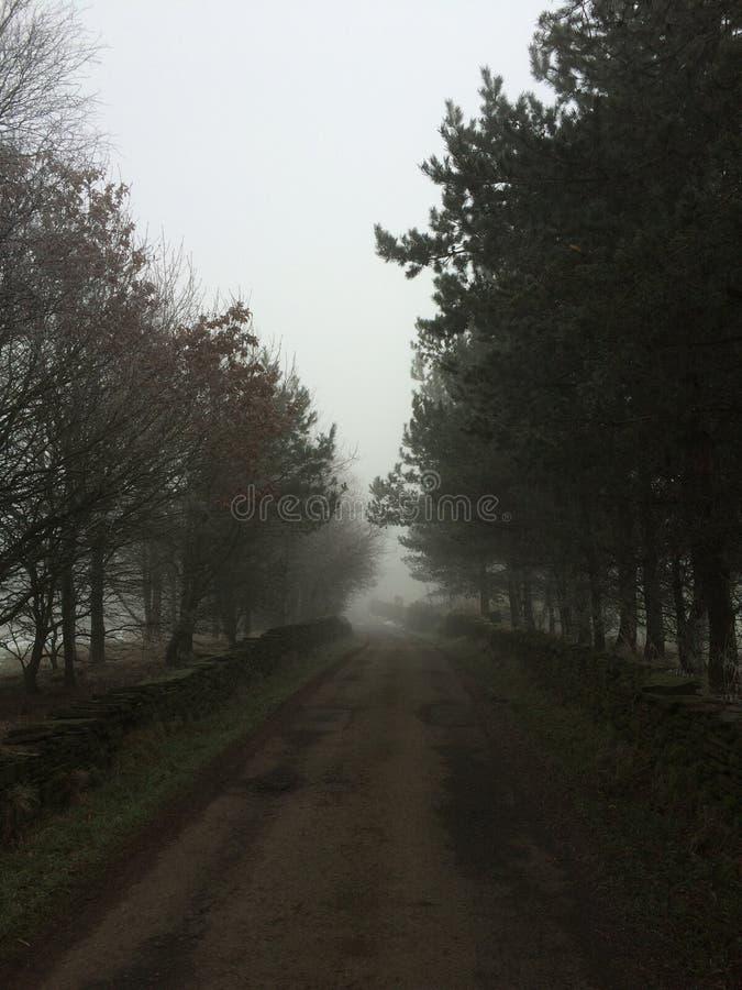 Une vieille route britannique photo libre de droits