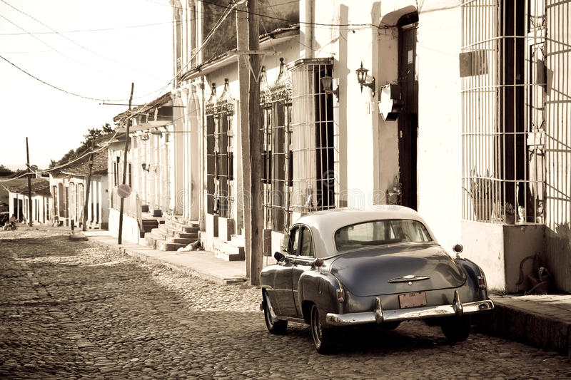 Voiture ancienne, Trinidad photos stock
