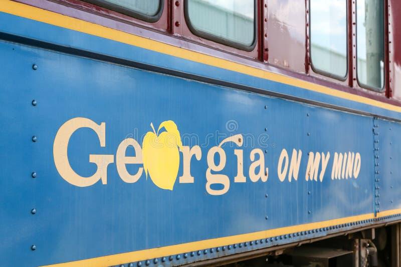 Une vieille voiture de train de la Géorgie image libre de droits