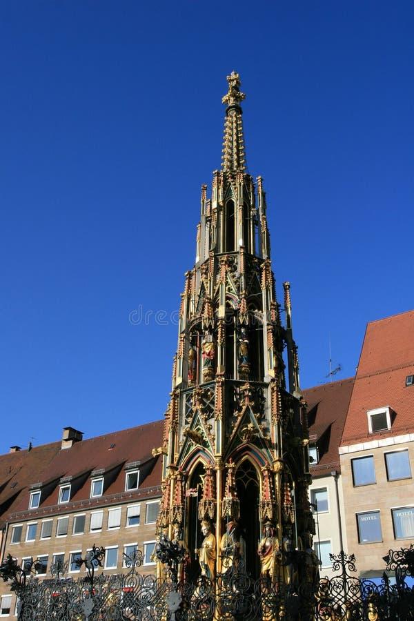 Une ville célèbre bien dans la vieille ville de Nurnberg photographie stock