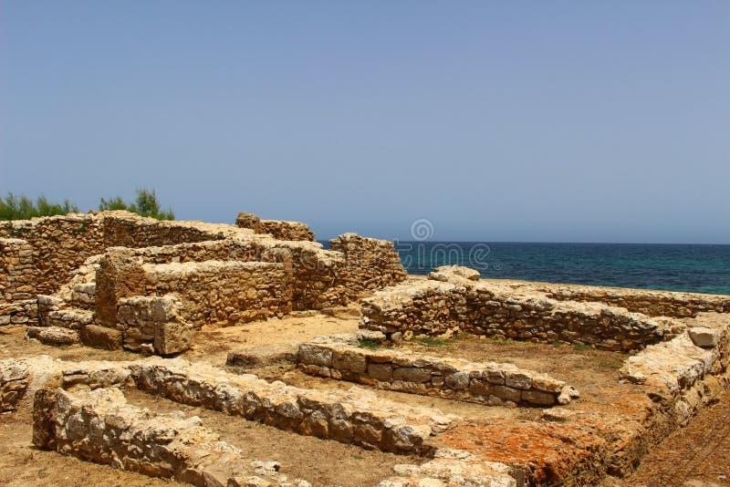 Une ville carthaginoise antique dans la fève de chapeau, Tunisie photos libres de droits