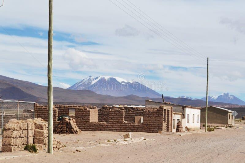 Une ville dans l'altitude photographie stock
