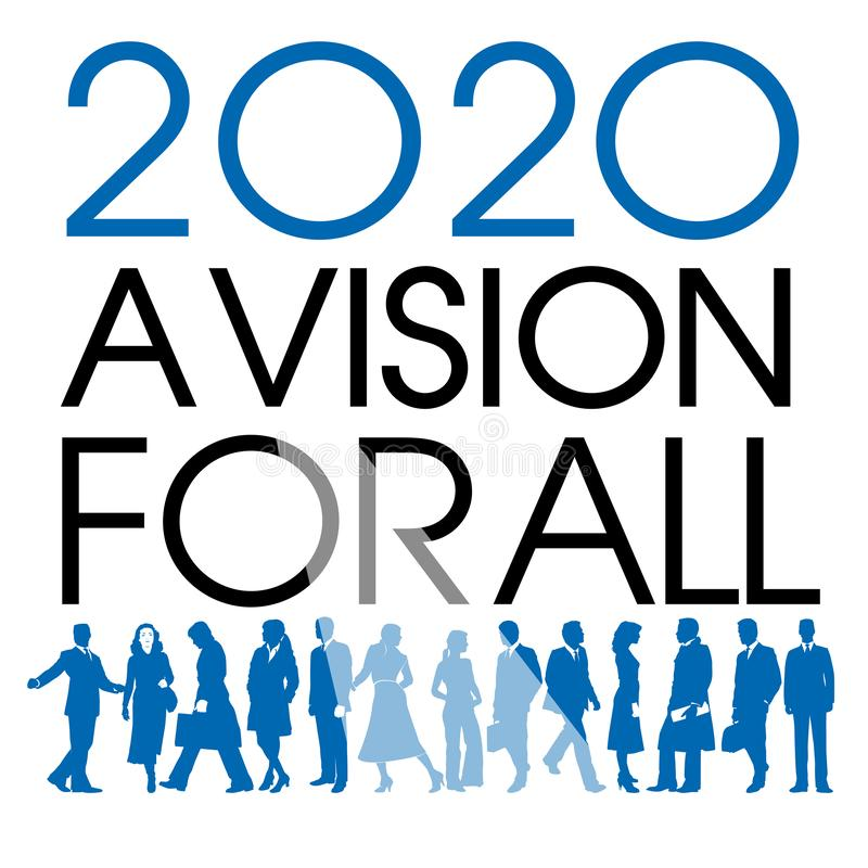 2020, une vision pour tous C'est le thème de l'art illustration libre de droits