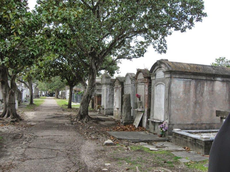 Une voie dans un cimetière image libre de droits