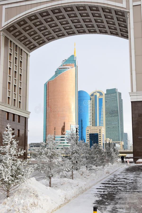 Une vue à Astana/Kazakhstan photo stock