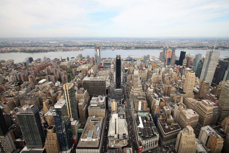 Une vue aérienne de New York images stock