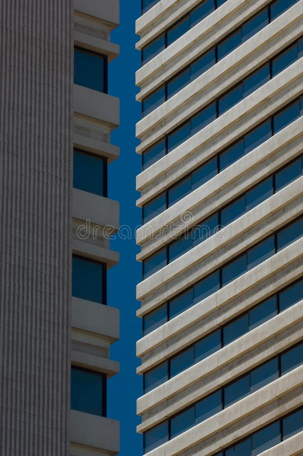 Une vue abstraite de l'extérieur de Madame Luck Hotel à Las Vegas, Nevada images stock