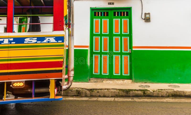 Une vue colorée dans le jardin en Colombie photographie stock libre de droits