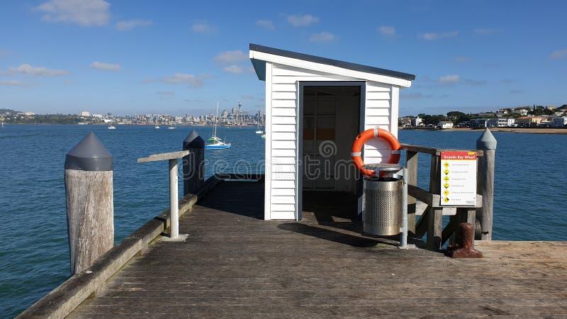 Une vue d'Auckland de quai de baie de torpille image stock