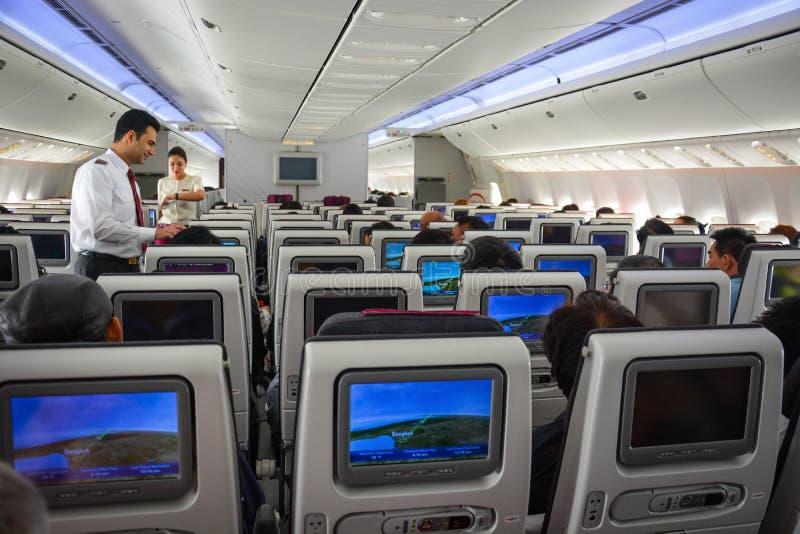 Une vue d'avion de Qatar Airways photographie stock