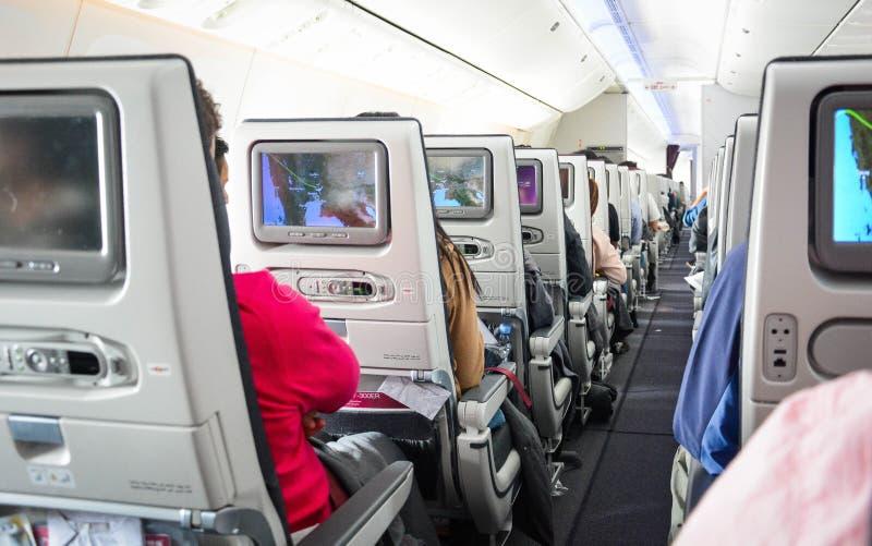 Une vue d'avion de Qatar Airways images stock