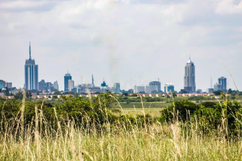 Une vue d'horizon de ville de Nairobi image stock