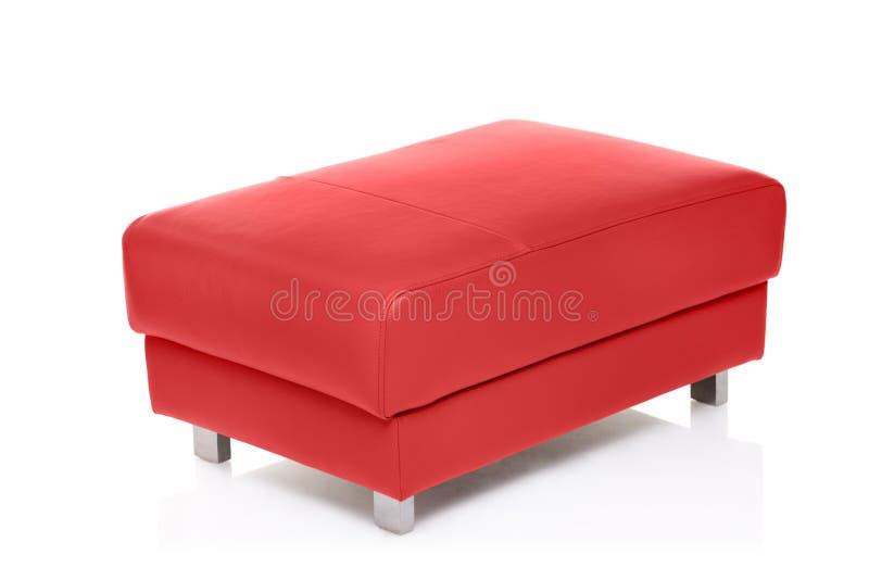 Une vue d'un tabouret rouge photo libre de droits