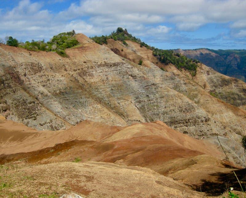 Une vue de canyon de Waimea de la surveillance photographie stock