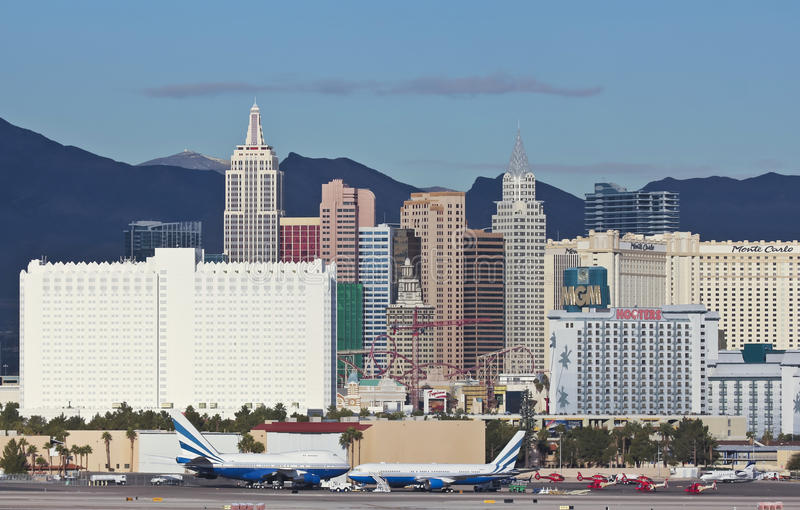 Une vue de casino de New York d'aéroport de McCarran photo libre de droits