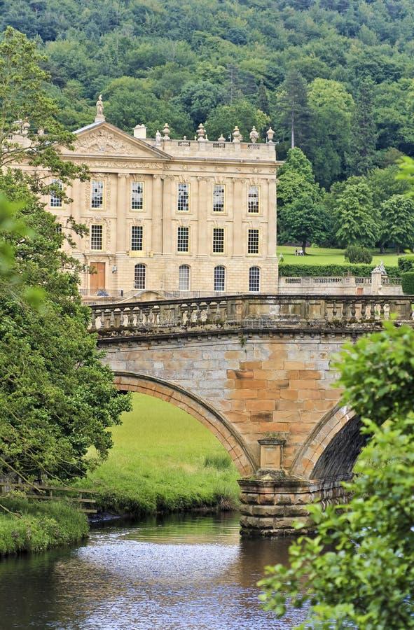 Une vue de Chambre de Chatsworth, Grande-Bretagne photo libre de droits