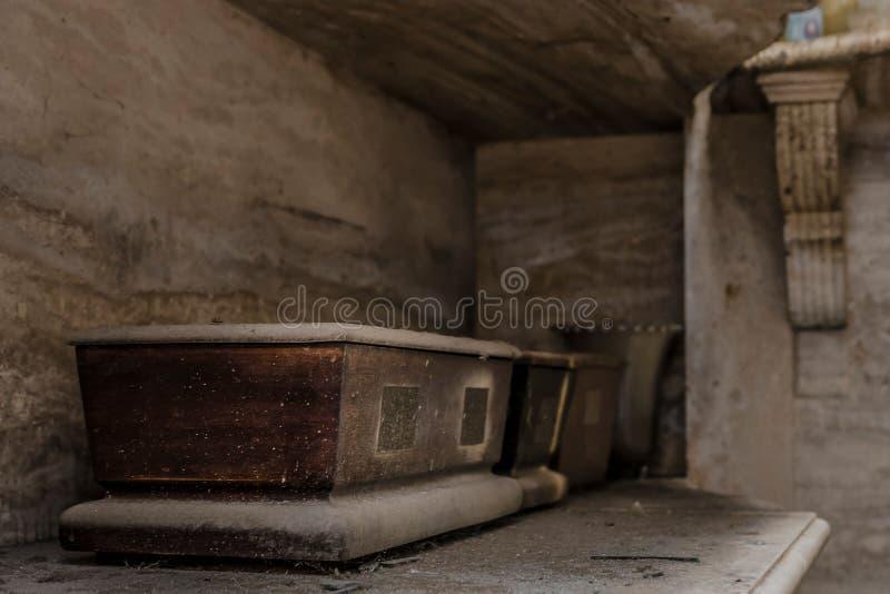 Une vue de cimetière de Recoleta image stock