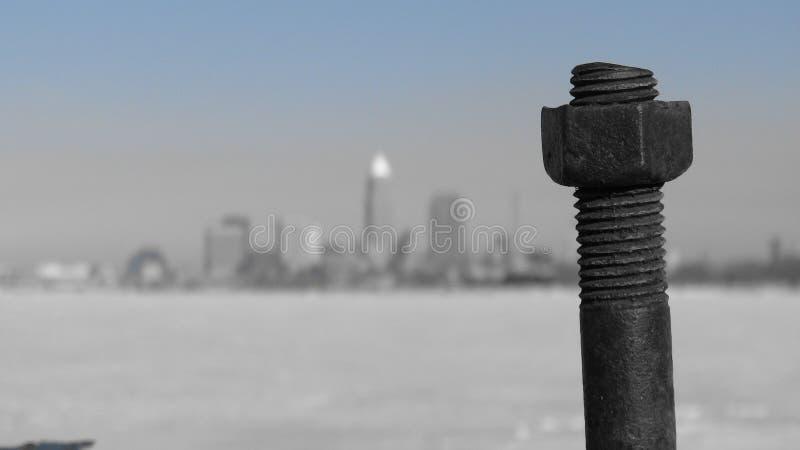 Une vue de Cleveland du centre, de l'Ohio, des Etats-Unis et d'une vis image libre de droits