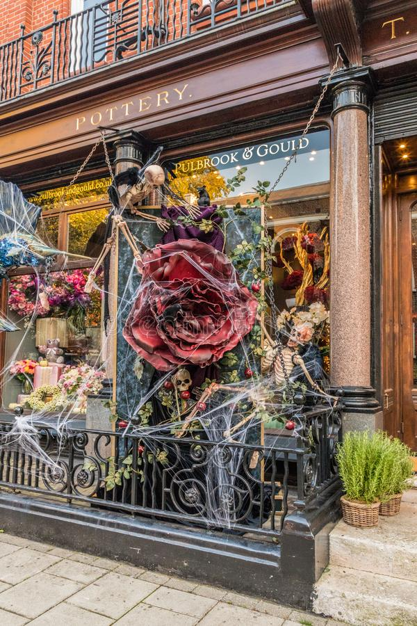 Une vue de Halloween à Londres photographie stock