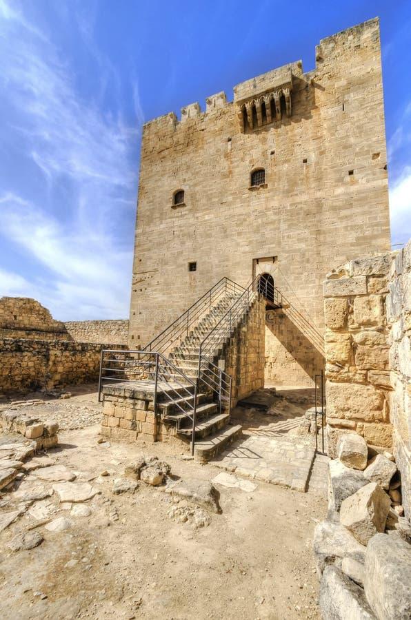 Château médiéval de Kolossi, Limassol, Chypre photographie stock