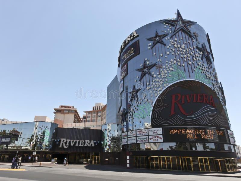 Une vue de l'hôtel et du casino de la Riviera photographie stock libre de droits