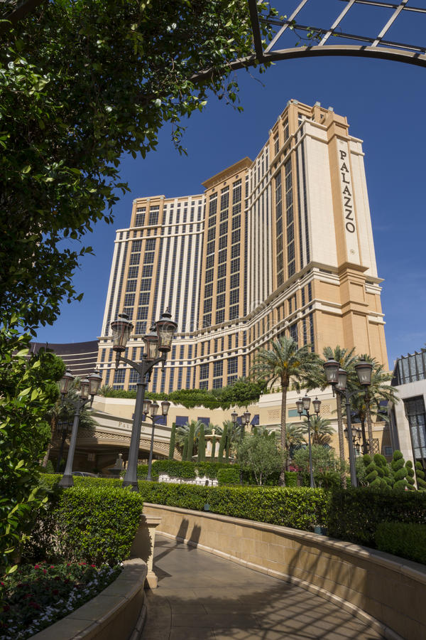Une vue de l'hôtel de Palazzo à Las Vegas, Nevada Etats-Unis image libre de droits