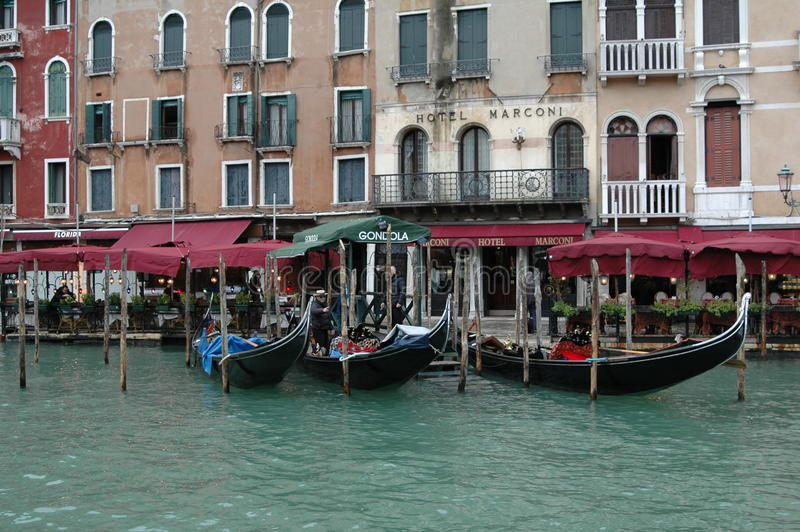 Une vue de la gondole à Venise image stock