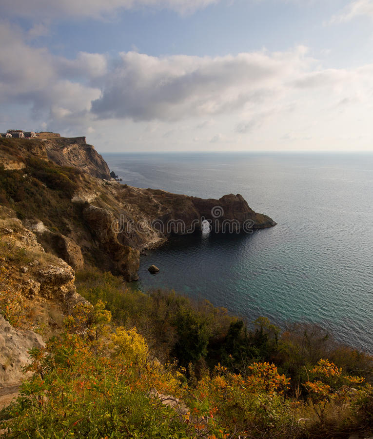 Une vue de la grotte de Diana image stock