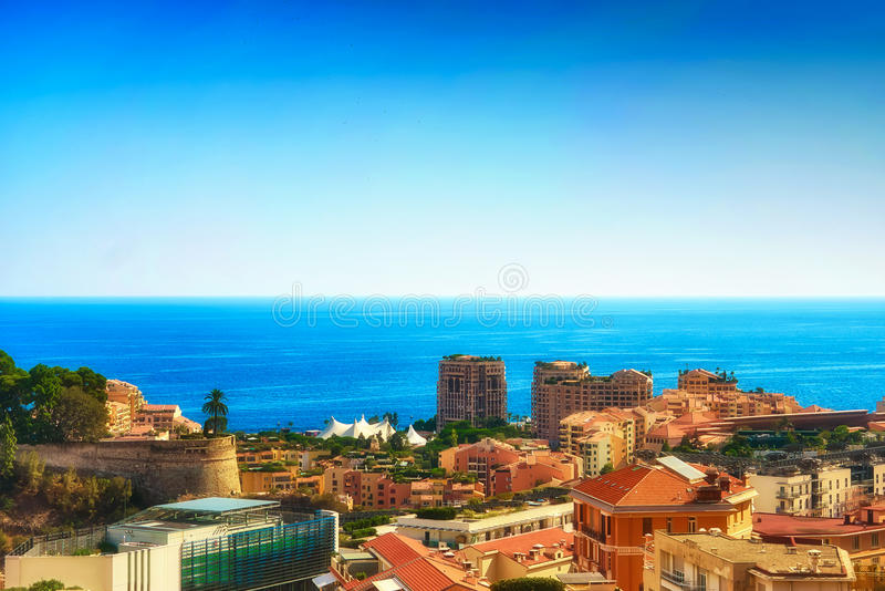 Une vue de la région occidentale du Monaco photos libres de droits