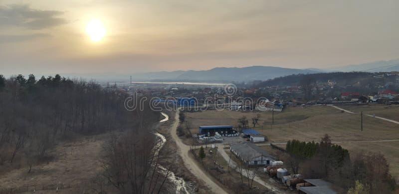 Une vue de la Roumanie image stock