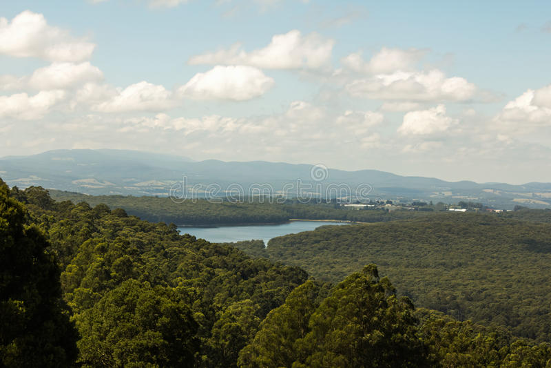 Une vue de Mt Dandenong photo libre de droits