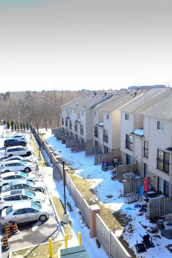 Une vue de notre voisin de notre logement image libre de droits